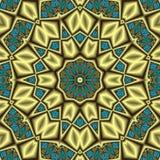 Aztec treasure mandala Stock Images