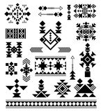 Aztec tribal ethnic elements royalty free illustration