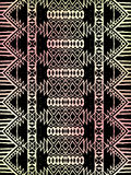 Aztec tribal mexican pattern Stock Image
