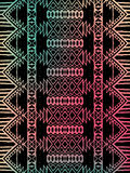 Aztec tribal mexican pattern Royalty Free Stock Images