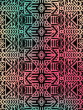 Aztec tribal mexican pattern Royalty Free Stock Photography