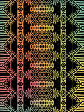 Aztec tribal mexican pattern Royalty Free Stock Photos