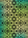 Aztec tribal mexican pattern. Hipster boho chic background with gradient mesh Royalty Free Stock Photos