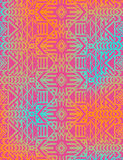 Aztec tribal mexican seamless pattern. Hipster boho chic background with gradient mesh Royalty Free Stock Image