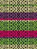 Aztec tribal mexican seamless pattern. Hipster boho chic watercolor background  for phone case, t-shirt, textile Stock Photography