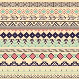 Aztec tribal pattern in stripes Stock Images