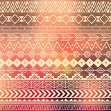 Aztec tribal pattern in stripes Royalty Free Stock Photography