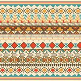 Aztec tribal pattern in stripes Stock Photo