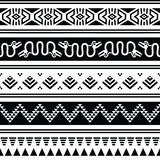 Aztec tribal seamless pattern with animals Stock Photo