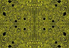Seamless Gold Aztec Maze Pattern Stock Image