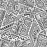 Aztec Vector Seamless Pattern. Unique Geometric Vector Seamless Pattern made in ethnic style. Aztec textile print. Perfect for site backgrounds, wrapping paper Stock Photo