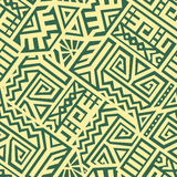 Aztec Vector Seamless Pattern Stock Photos