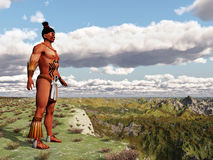 Aztec warrior Stock Photo
