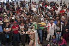 Aztec warrior Royalty Free Stock Photo