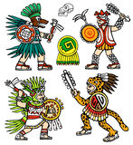 Aztec warriors Stock Photos