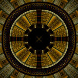 Aztec wheel of life. Abstract fractal image resembling and Aztec wheel of life Royalty Free Stock Photo