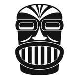 Aztec wood idol icon, simple style vector illustration