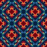 Azteca inconsútil abstracto tribal del modelo geométrico Fotografía de archivo libre de regalías