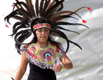 Azteca Indian dancers at Cultural Festival Stock Images