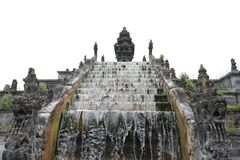 Aztech-Monument-Treppe watherfall lizenzfreie stockfotos