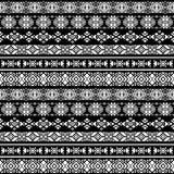 Azteco americano di natività, modello senza cuciture di vettore peruviano tribale Fotografie Stock Libere da Diritti
