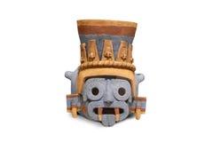 Azteco e Maya Sculptures nel museo di Clocolate Fotografia Stock Libera da Diritti