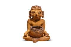 Azteco e Maya Sculptures nel museo di Clocolate Fotografia Stock