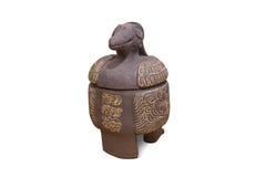 Azteco e Maya Sculptures nel museo di Clocolate Fotografie Stock