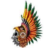 Azteco Eagle Warrior Sull illustrazione di stock