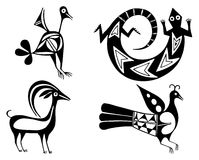 Aztecs. Fantastic animals and birds of Aztecs Stock Photo