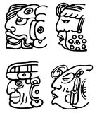 Aztecs. Fantastic animals and birds of Aztecs Stock Photos