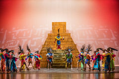 Aztecs dance. The Ballet Folklórico UTRGV presenting its annual concert series, Alegría 2016, Edinburg, Texas, University of Texas Rio Grande Vally royalty free stock photo