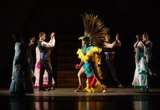 Aztecs dance. The Ballet Folklórico UTRGV presenting its annual concert series, Alegría 2016, Edinburg, Texas, University of Texas Rio Grande Vally royalty free stock photos