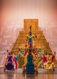 Aztecs dance. The Ballet Folklórico UTRGV presenting its annual concert series, Alegría 2016, Edinburg, Texas, University of Texas Rio Grande Vally stock images