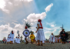 Aztecs Dancing Stock Photos