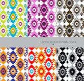 Aztecs herhalen patroon de moderne kleur 6 etnische abstracte achtergrond plaatste Stock Afbeelding