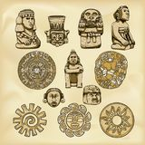 Aztecs illustration Stock Photos