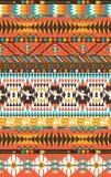 Aztecs naadloos patroon op hete kleur Royalty-vrije Stock Fotografie