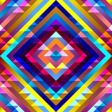 Aztecs pattern. Seamless geometric abstract pattern in aztecs style on stripes background Royalty Free Stock Photo