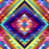 Aztecs pattern. Seamless geometric abstract pattern in aztecs style on stripes background royalty free illustration