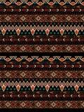 Aztecs seamless pattern on hot color. Tribal textile design stock illustration