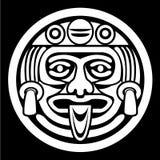 Azteeks gezichtsmasker royalty-vrije illustratie