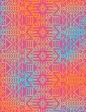 Azteeks stammen Mexicaans naadloos patroon Royalty-vrije Stock Afbeelding
