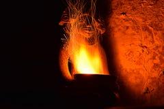 Azteeks steenbeeldhouwwerk Royalty-vrije Stock Afbeeldingen