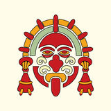 Azteeks strijderssymbool Stock Fotografie