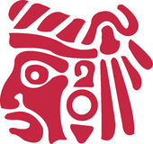 Azteekse Indiër Stock Afbeelding