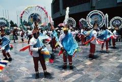 Azteekse Stad danser-Mexico Stock Foto's