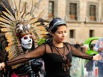 Azteekse tovenaar in Mexico Royalty-vrije Stock Afbeelding