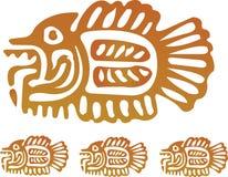 Azteekse Vissen Royalty-vrije Stock Afbeeldingen