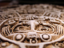 Azteekse zonnekalender stock afbeelding